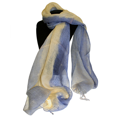 Classic Linen Scarf - Blues Combo