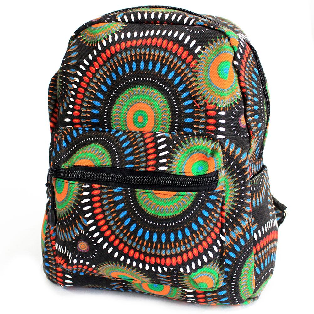 Undersized Backpack - Green Mandala Design