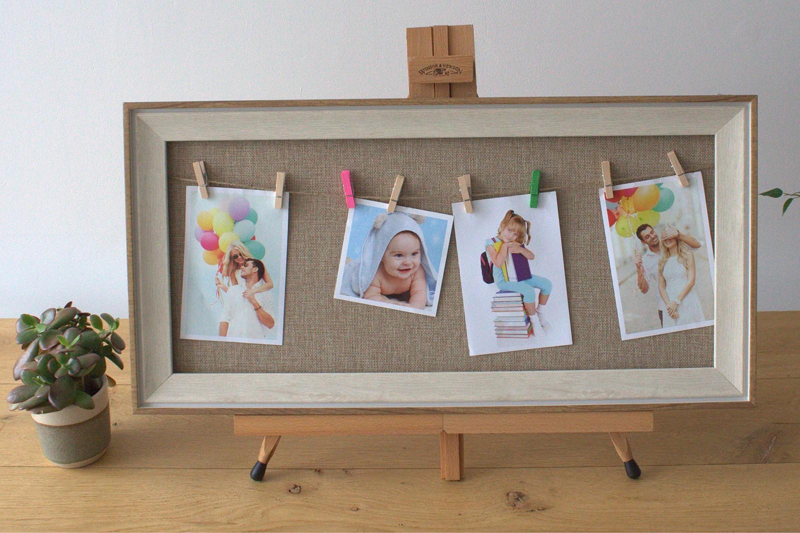 Med DIY Peg Photo Frames (30x60cm)- Natural Jute
