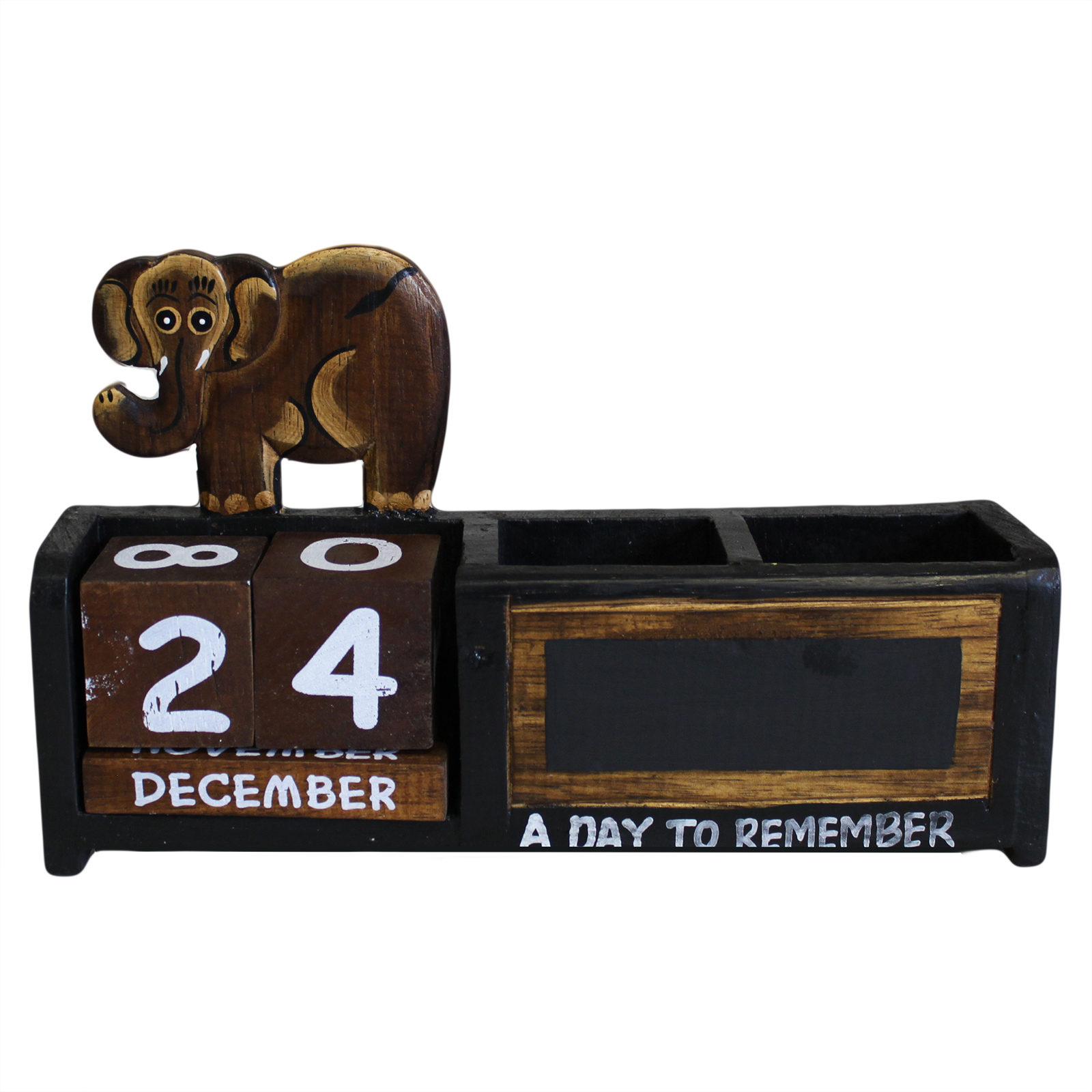 Day to Remember pen holder - Brown Elephant