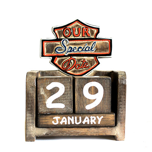 Day to Remember Calender - Our Special Date - carved sign