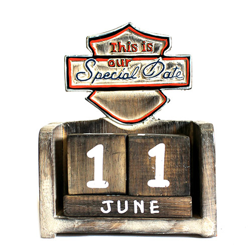 Day to Remember Calender - This is Our Special Date - carved sign