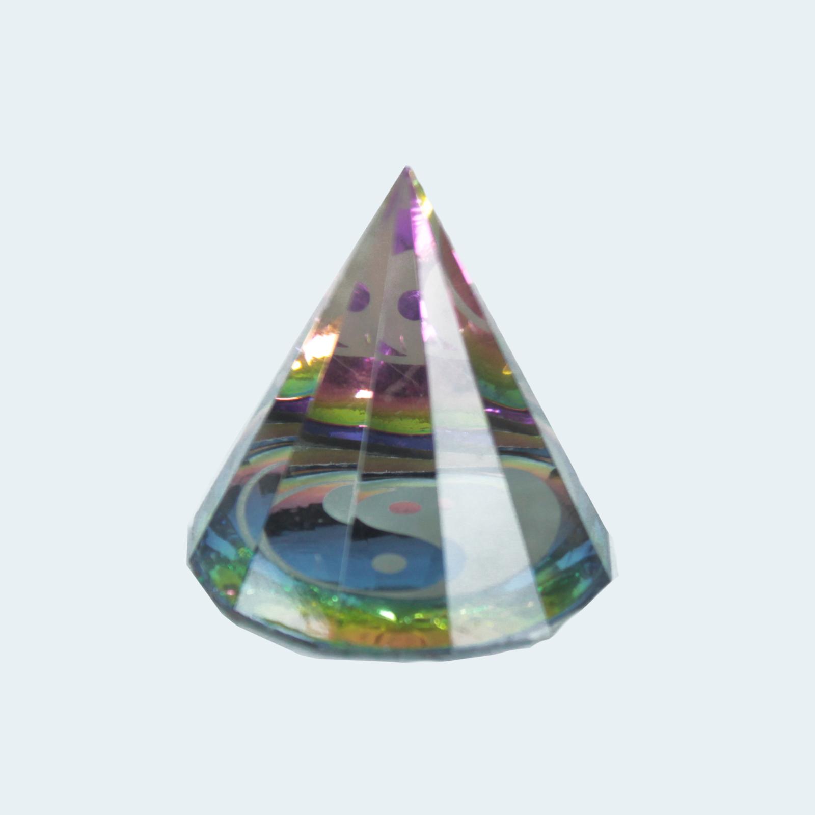 12 Sided Yin Yang Pyramid 40 mm