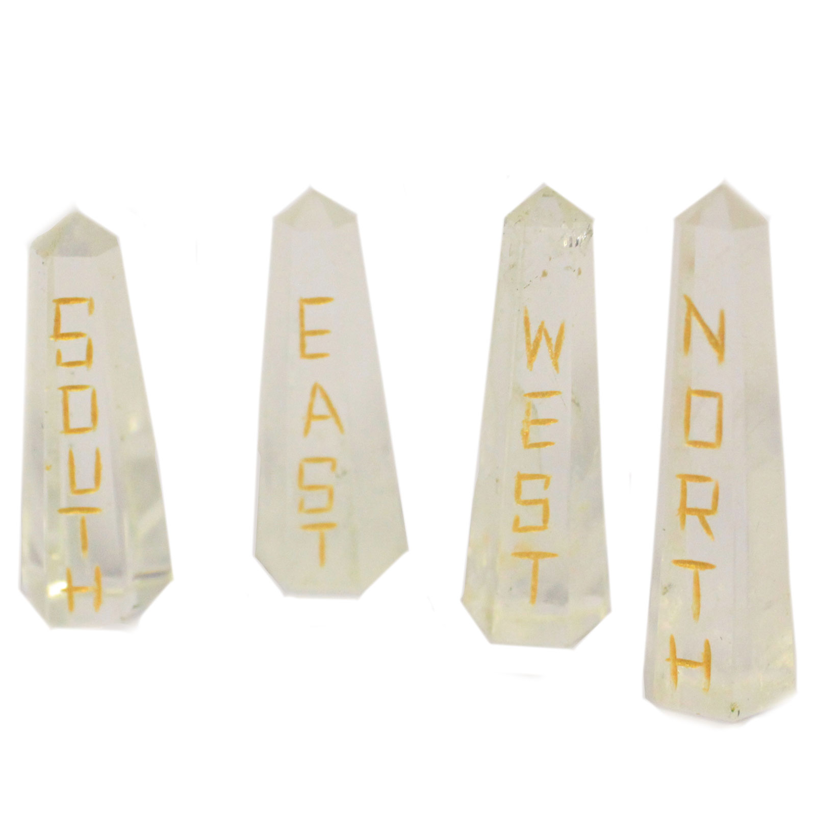 Points of the Compass Quartz Stone Set