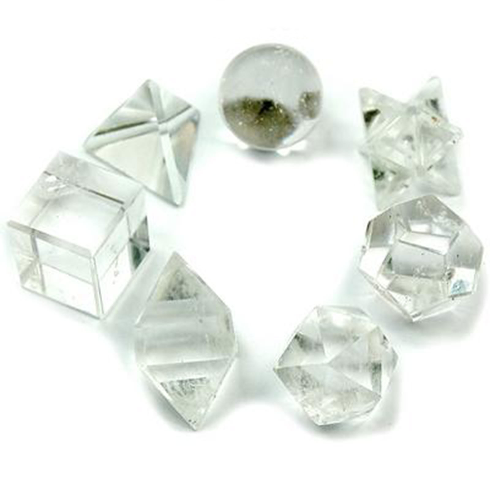 Geometric Seven Piece Crystal Set