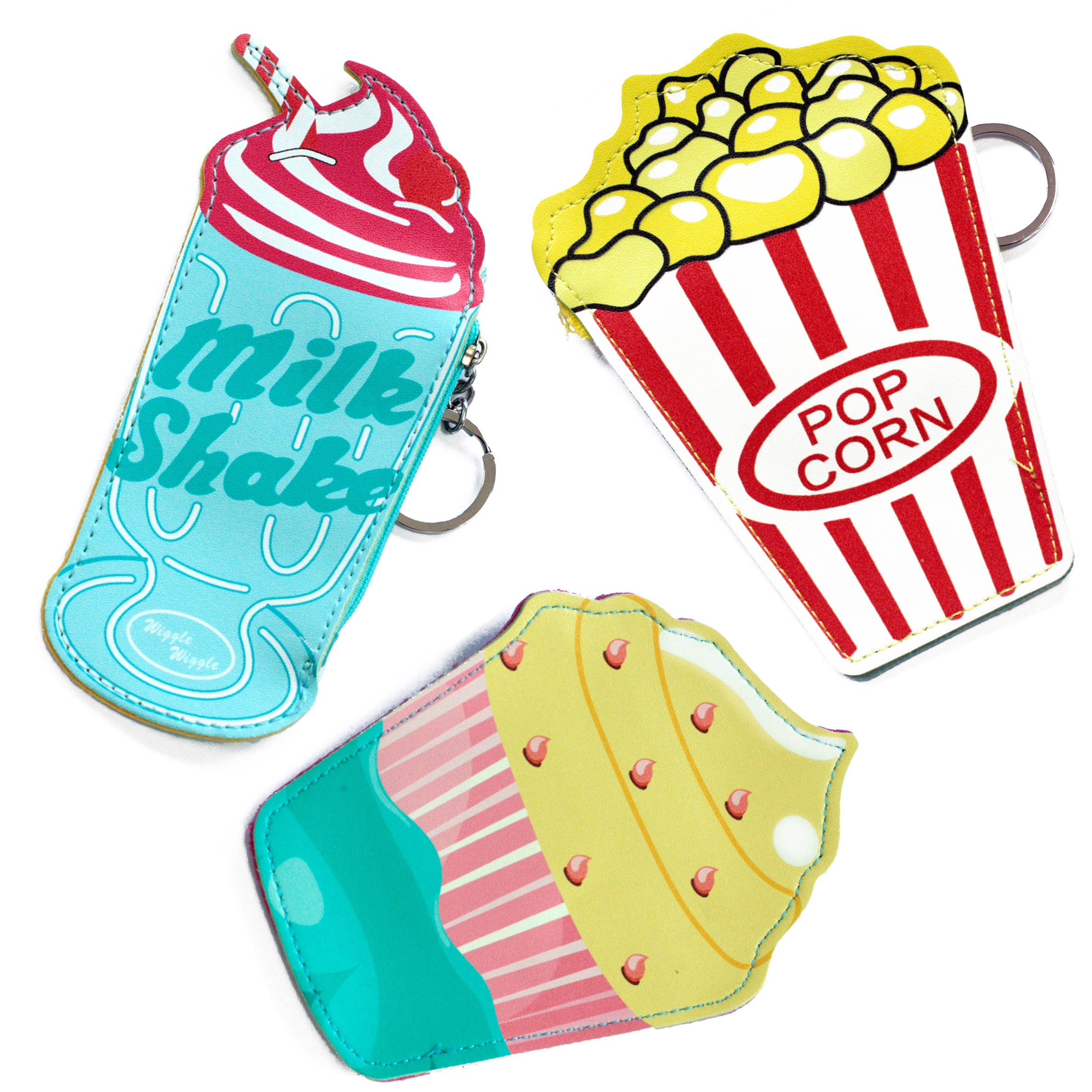 Fun Money Pouch - PACK OF 3 - ONE OF EACH DESIGN - Food At The Movies