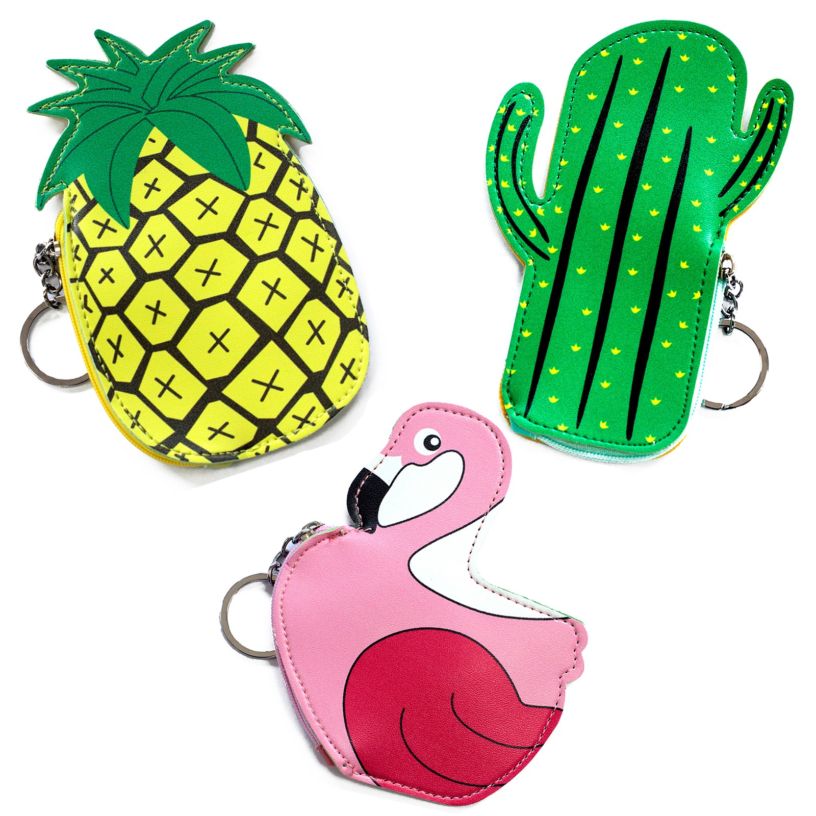 Fun Money Pouch - PACK OF 3 - ONE OF EACH DESIGN - Tropical Dreams