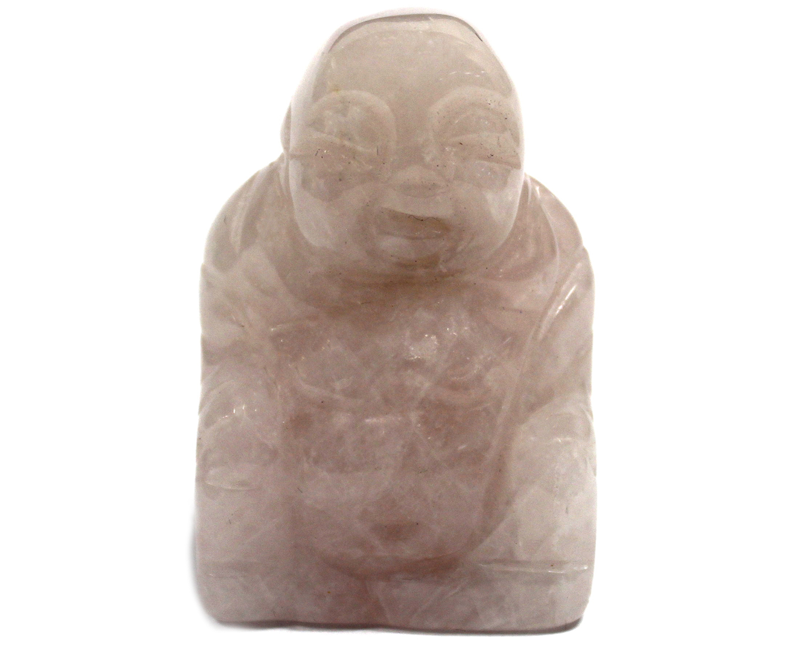 Gemstone Buddha - Rose Quartz