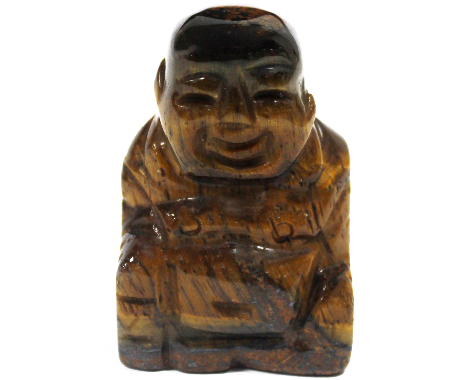 Gemstone Buddha - Tiger Eye