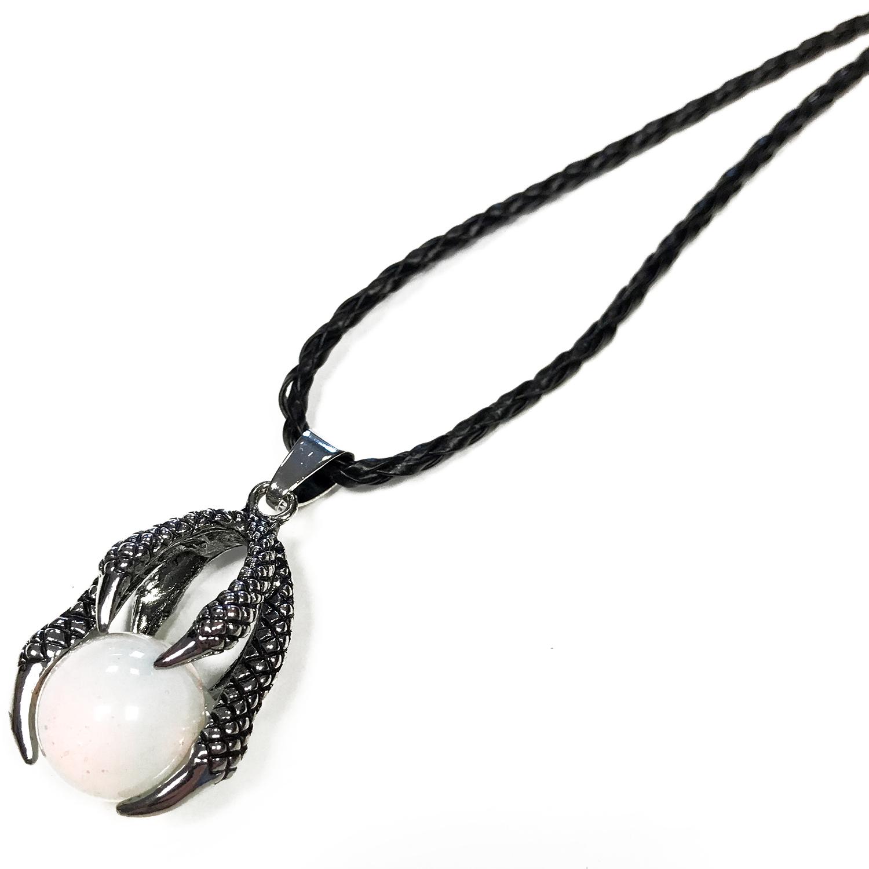Lrg Dragon Claw Pendant - Opalite