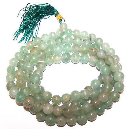 Mala Beads - Green Aventurine