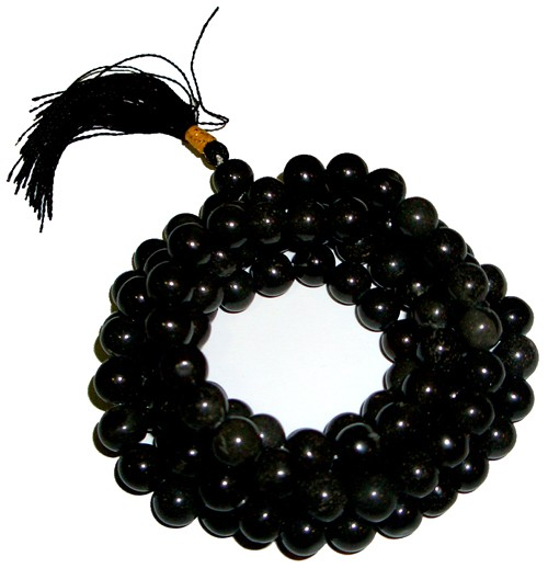 Mala Beads - Black Agate