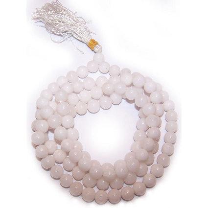 Mala Beads - White Quartz