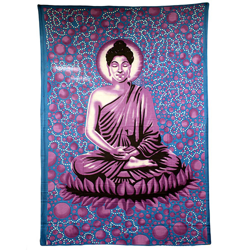 Large Blue Buddha Bedspread / Wall Art