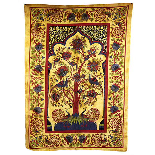Tree of Life - Brown Bedspread / Wall Art