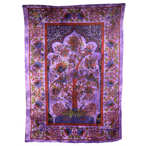 Tree of Life - Purple Bedspread / Wall Art