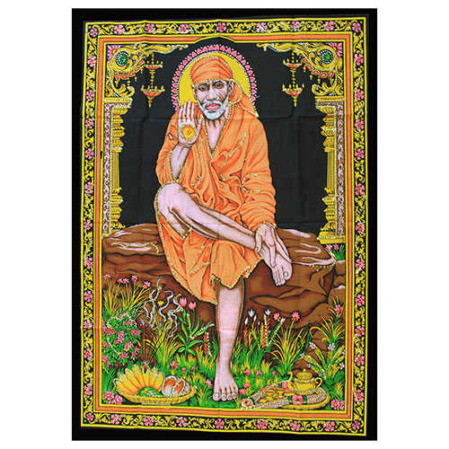 Indian Wall Art Print - Sai Baba