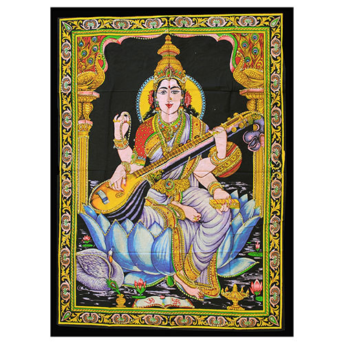 Indian Wall Art Print - Saraswati
