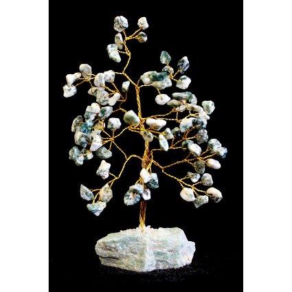 Tree Agate Gemstone Tree (80 Stone)