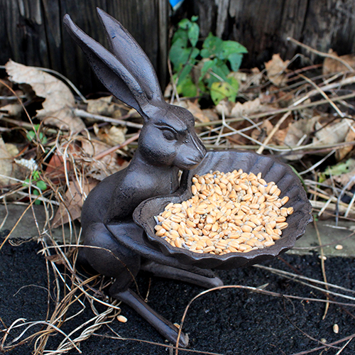 Cast Iron Bird Feeder - Hare & Shell