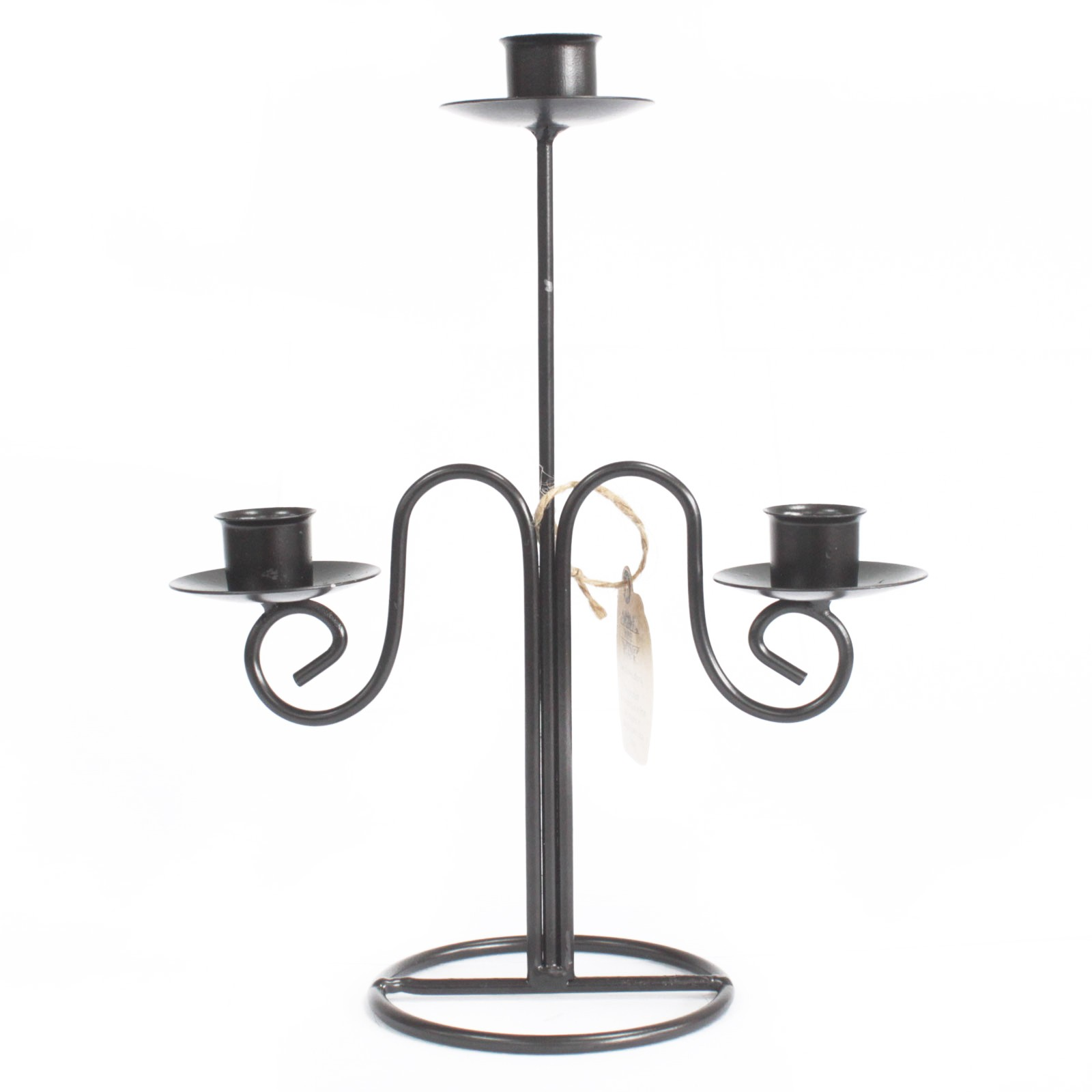 Iron Candle Holder - Tri Stick Elegant