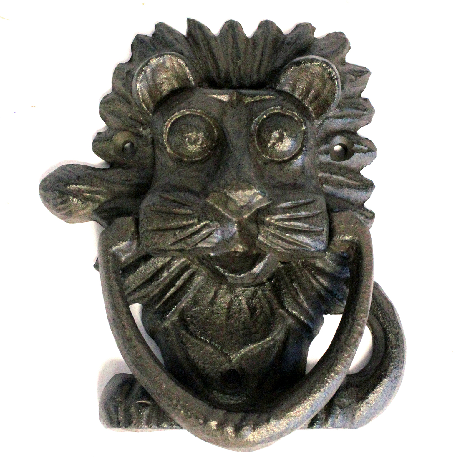 Cast Iron Knocker - Classic Lion - Natural
