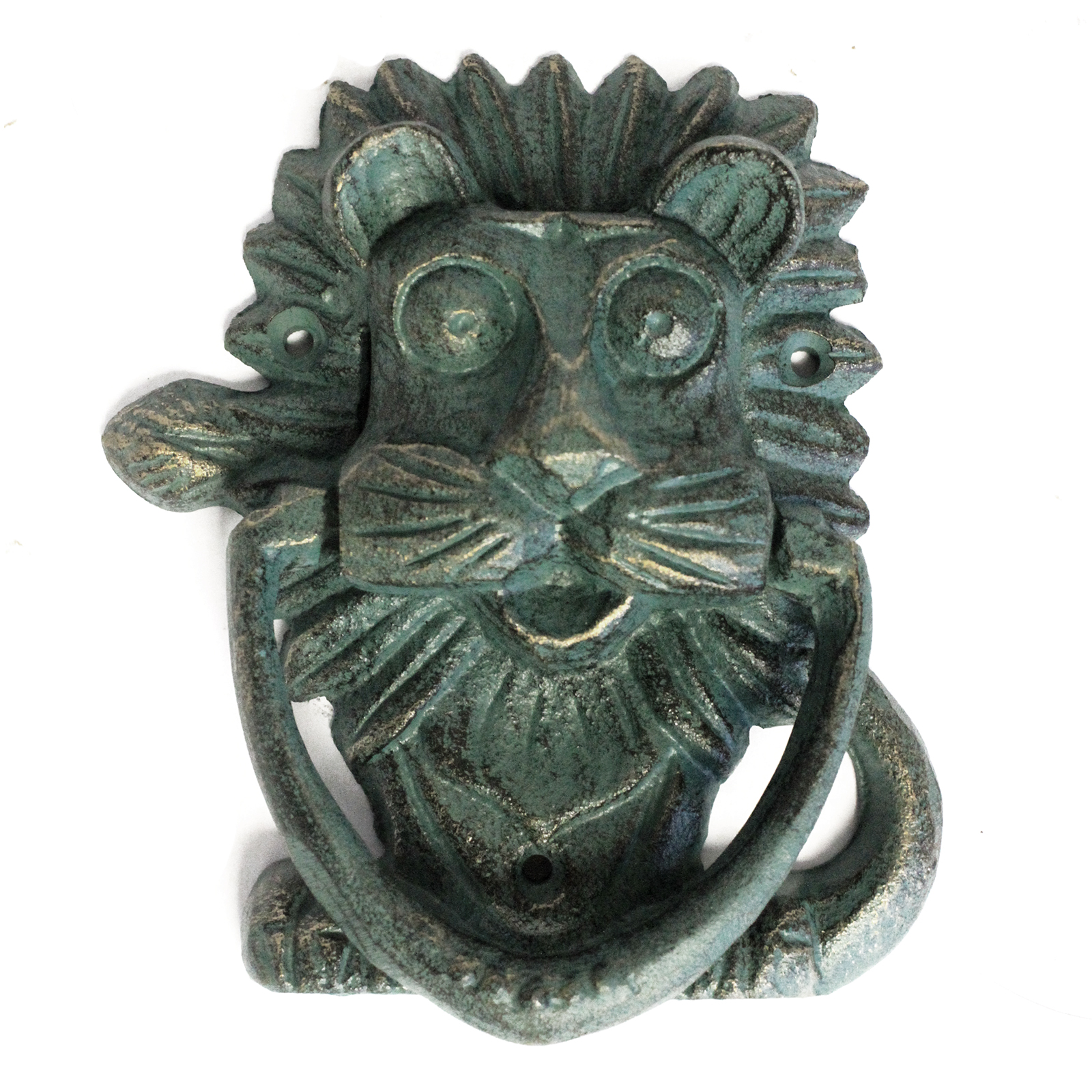 Cast Iron Knocker - Classic Lion - Verdigris