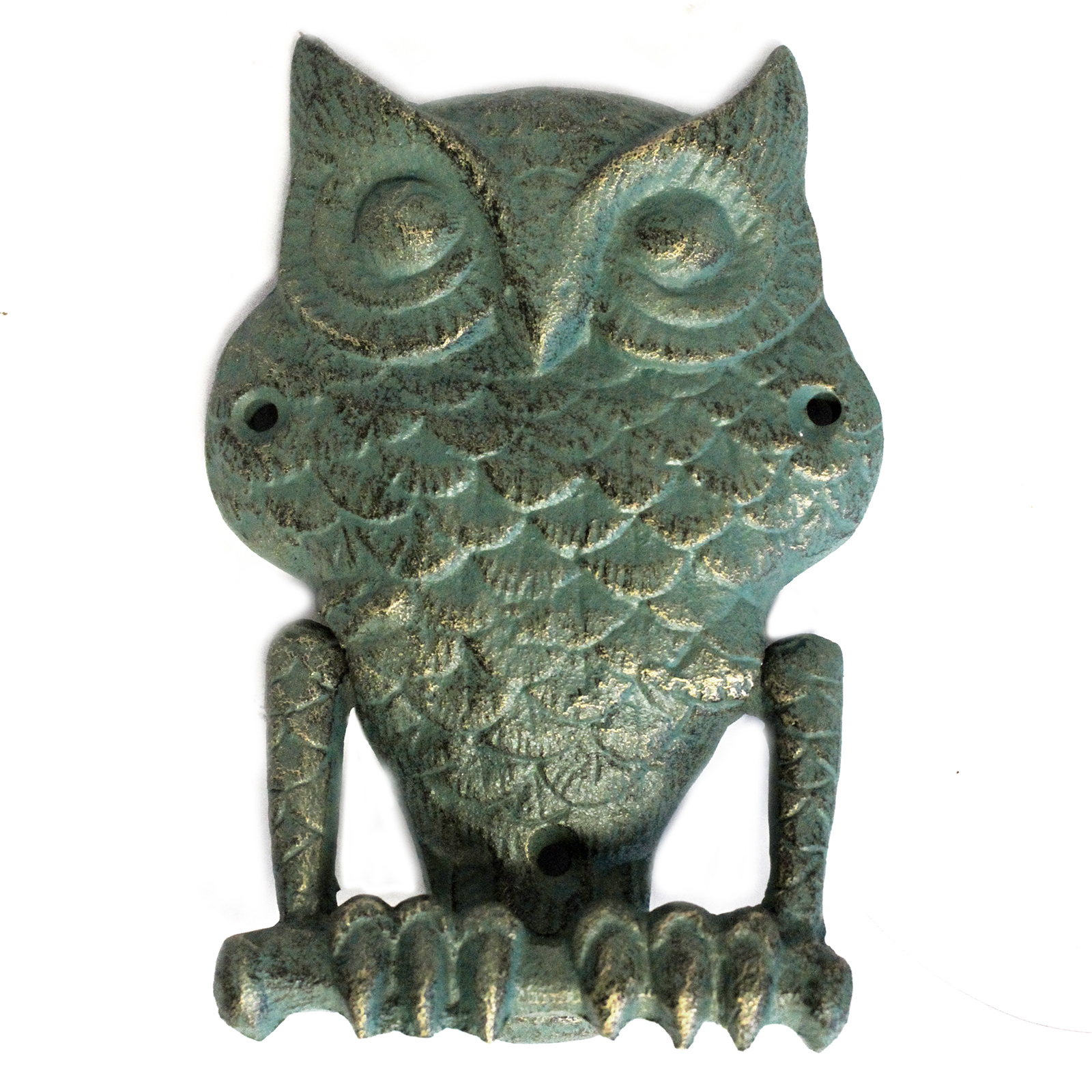 Cast Iron Knocker - Owl - Verdigris