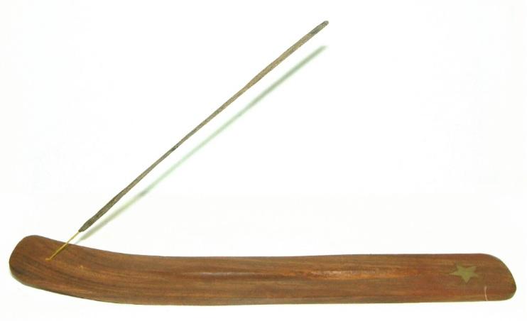 Brass Inlaid 255mm Sesham Wood Ashcatcher