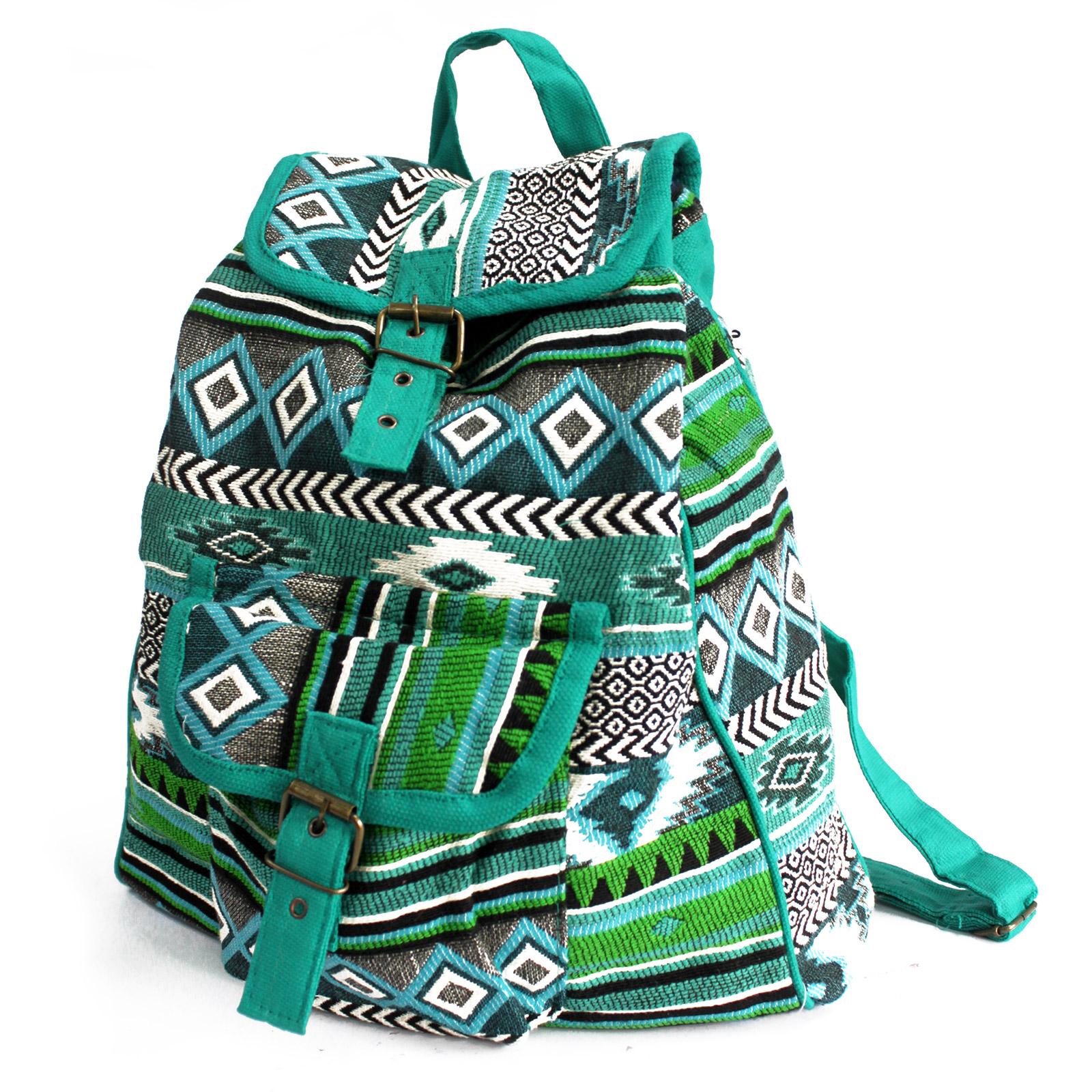 Jacquard Bag - Teal Backpack