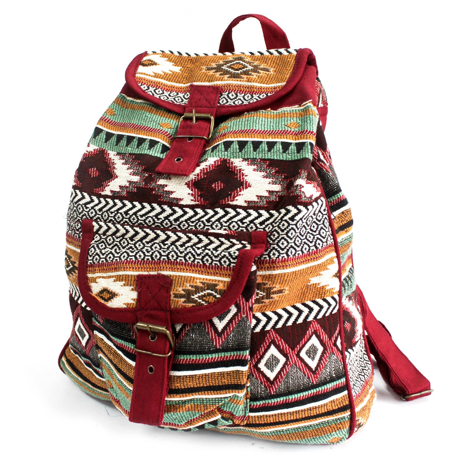 Jacquard Bag - Chocolate Backpack