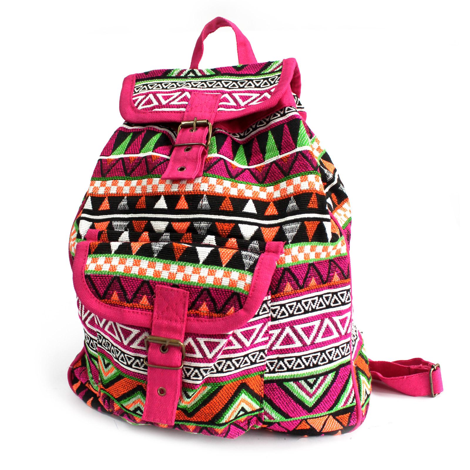 Jacquard Bag - Pink Backpack