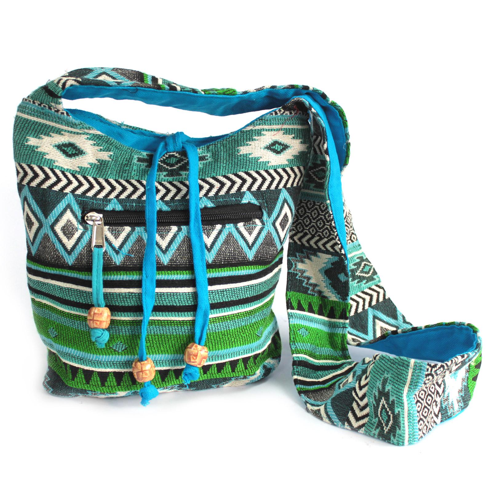 Jacquard Bag - Teal Sling Bag