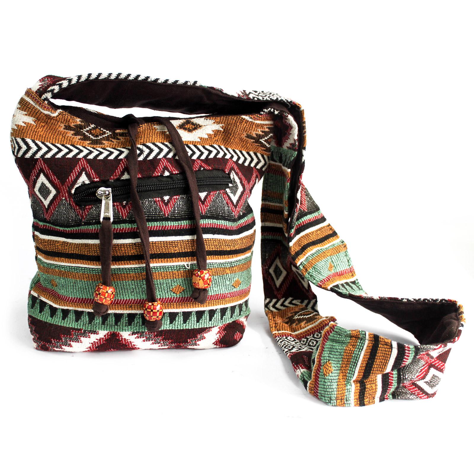 Jacquard Bag - Chocolate Sling Bag
