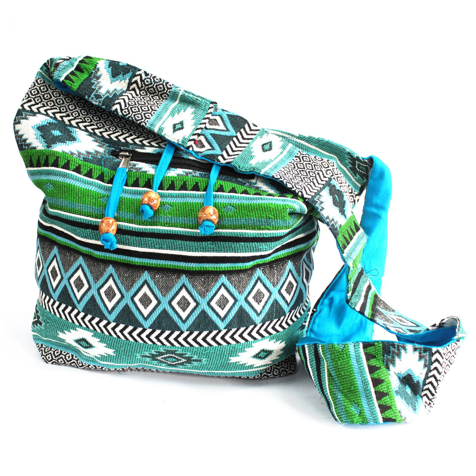 Jacquard Bag - Teal Student Bag