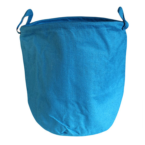 Jute Laundry Basket - Blue