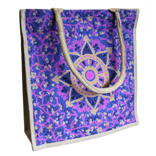Lrg Shopping Bag Blue Alpana