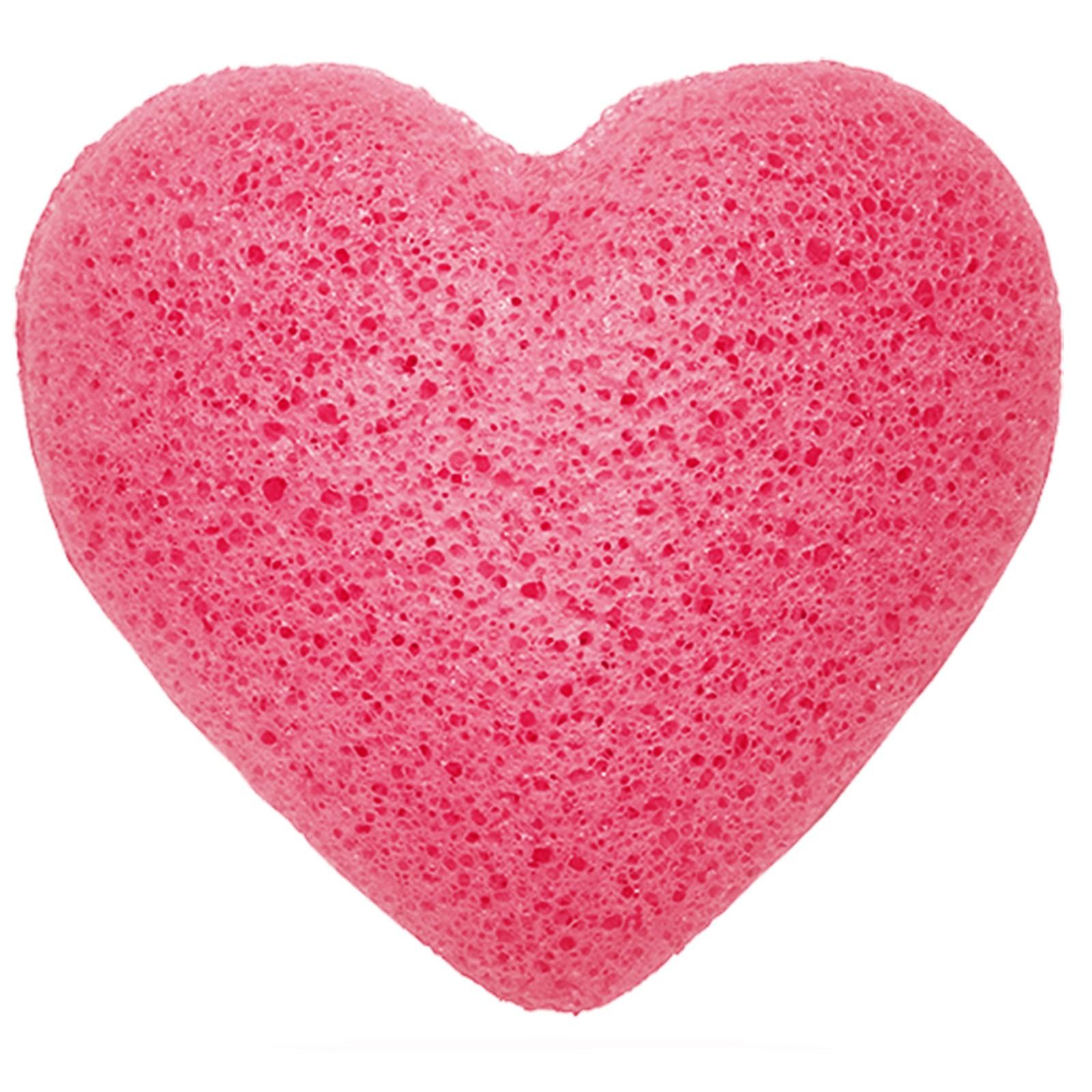 Japanese Konjac Heart Sponge - Rose
