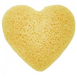 Japanese Konjac Heart Sponge - Peach