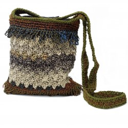 Crocheted Sling Bags - Soft brown ( Assorted Colours)