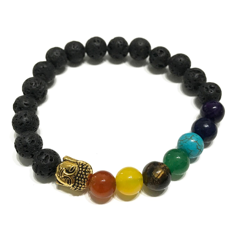 Lava Stone Bracelet - Buddha Chakra