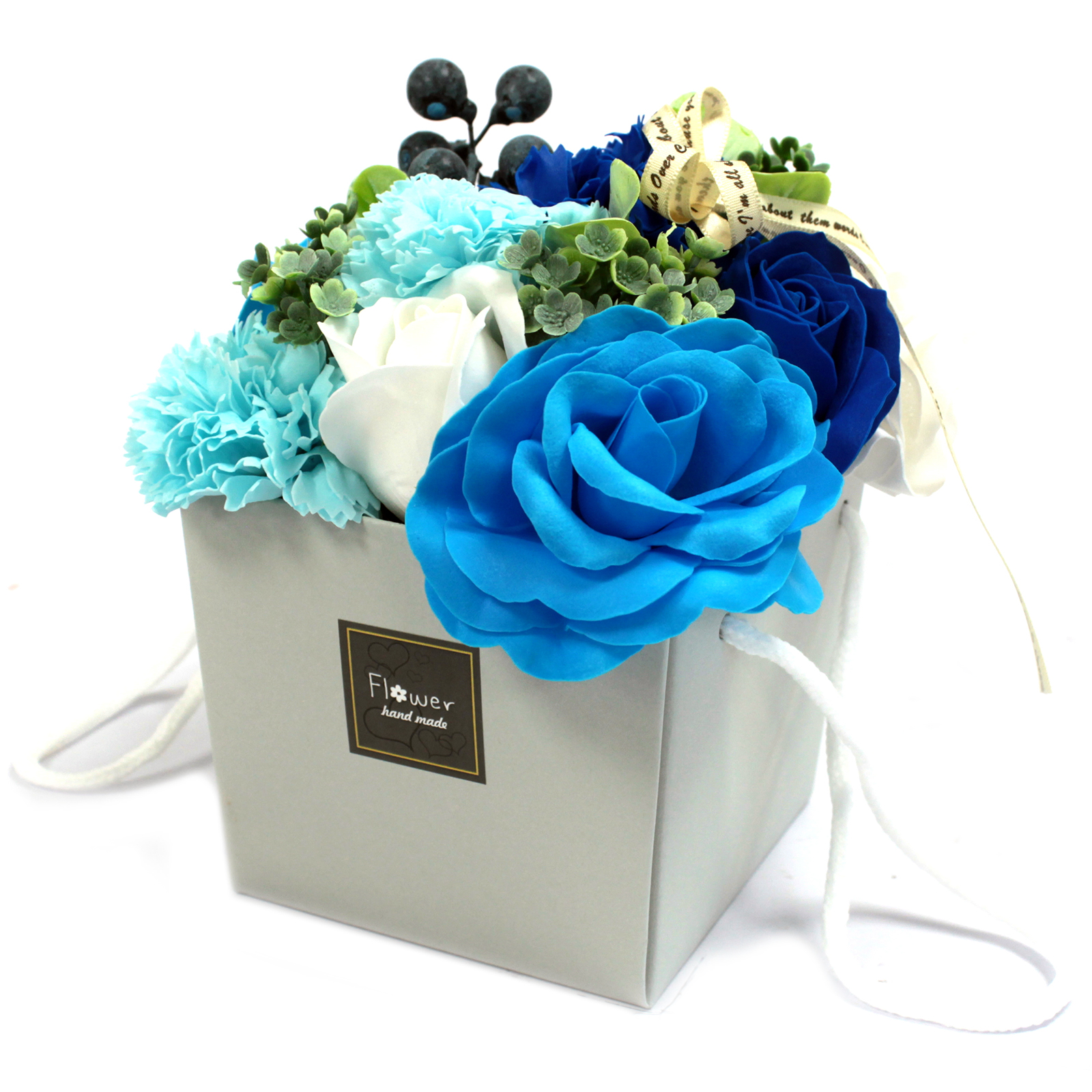 1x Soap Flower Bouqet - Blue Wedding