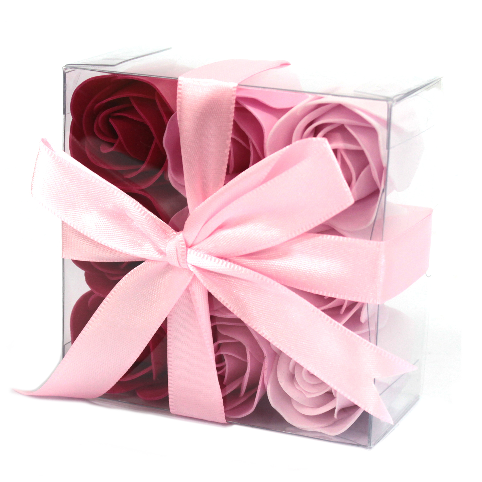 1x Set of 9 Soap Flowers - Pink Roses