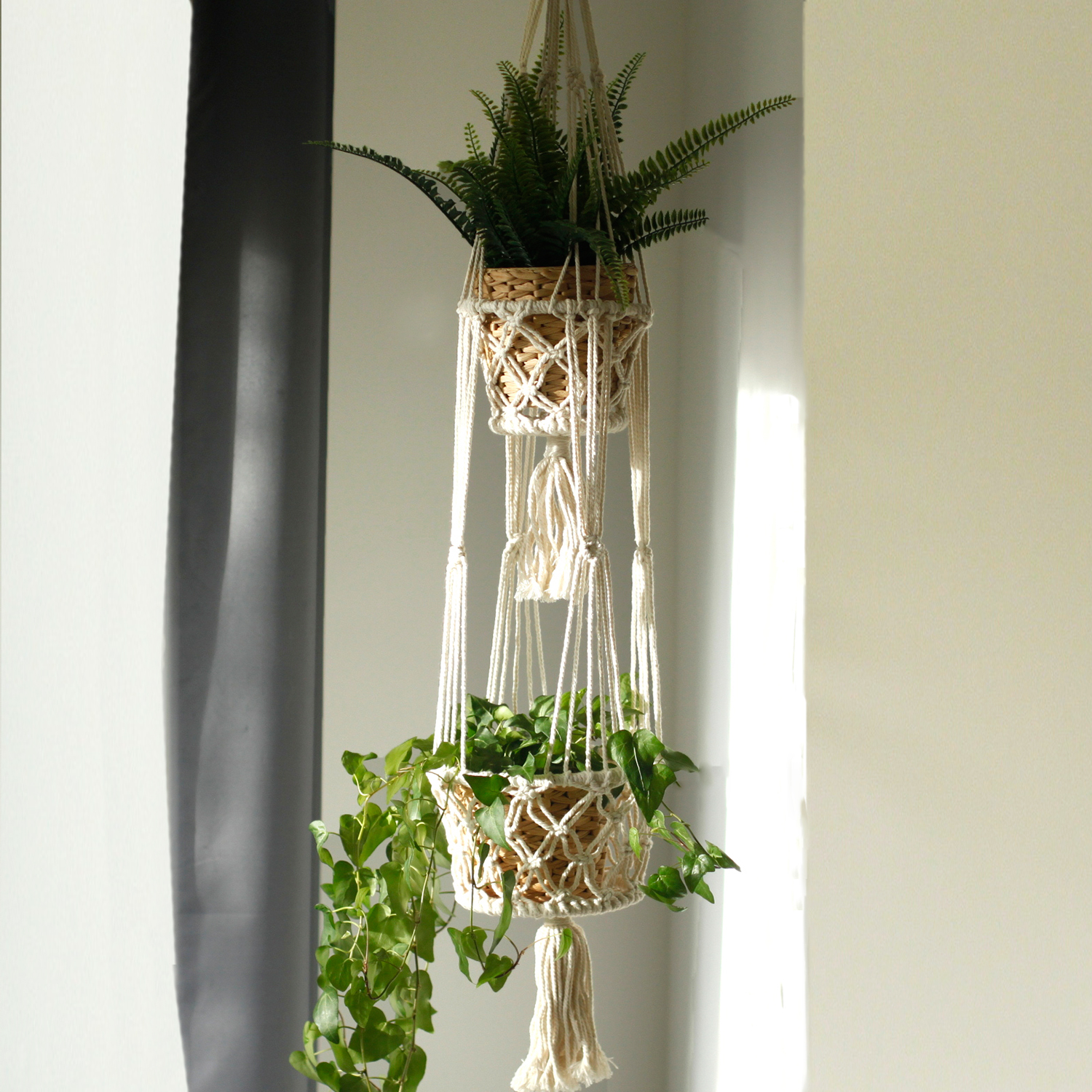 Macrame Pot Holder - Double Holder