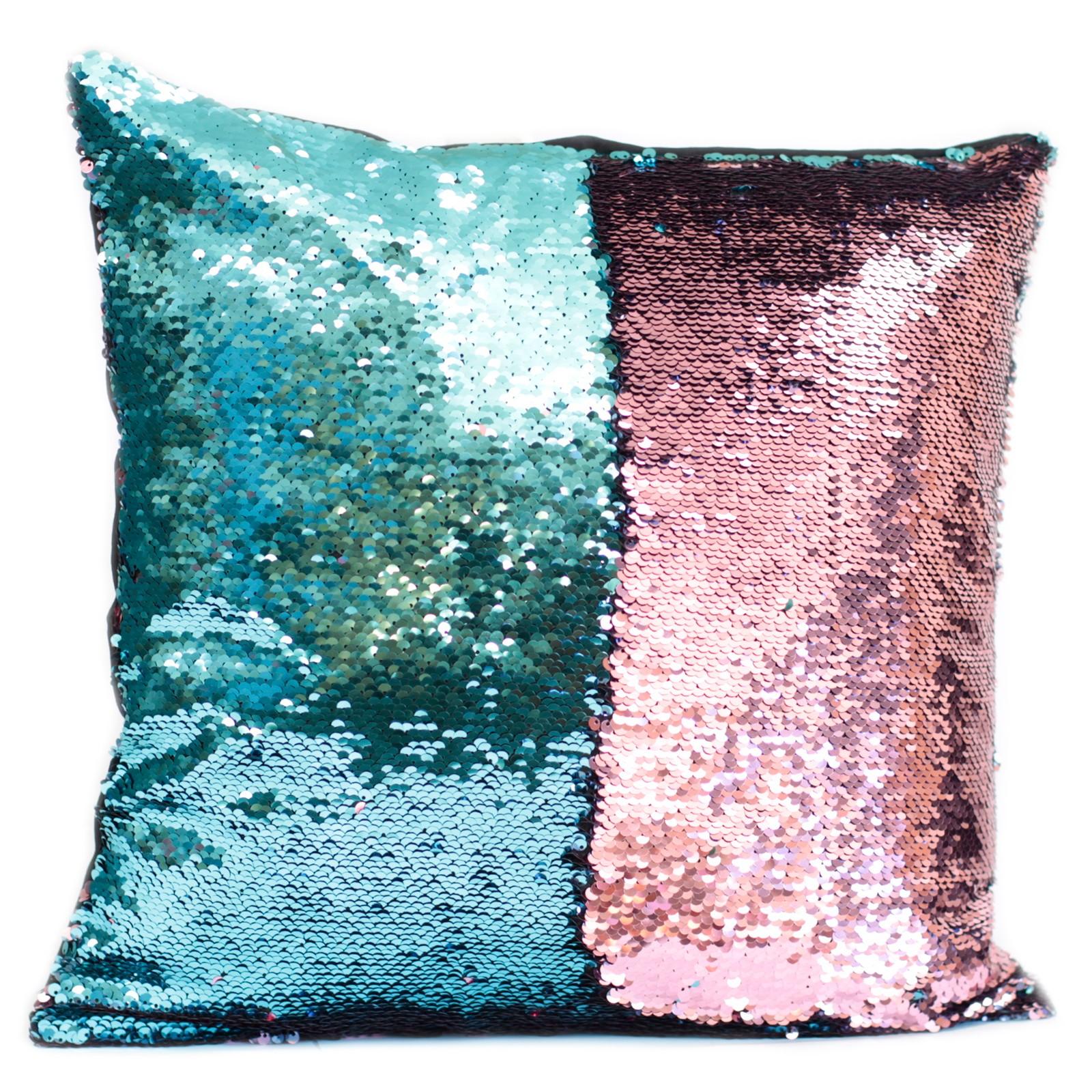 2x Mermaid Cushion Covers - Teal & Lavender