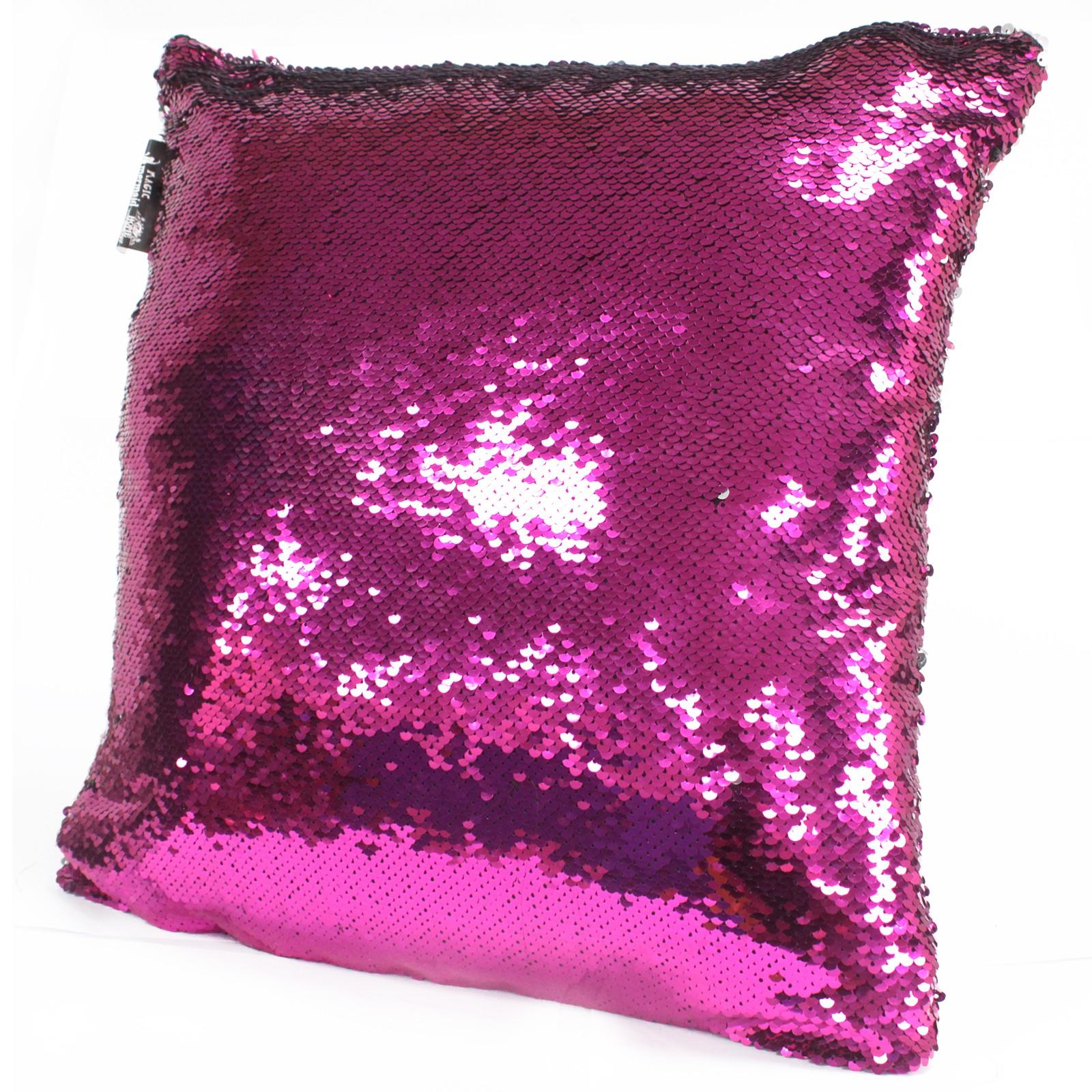 2x Mermaid Cushion Covers - Violet & Silver