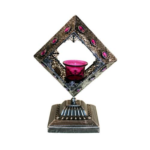 Moorish Single Lrg Square Candle Holder
