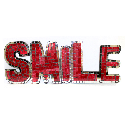 Mosaic Word - Smile (Red)