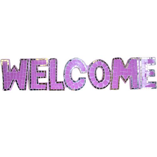 Mosaic  - Welcome - Purple