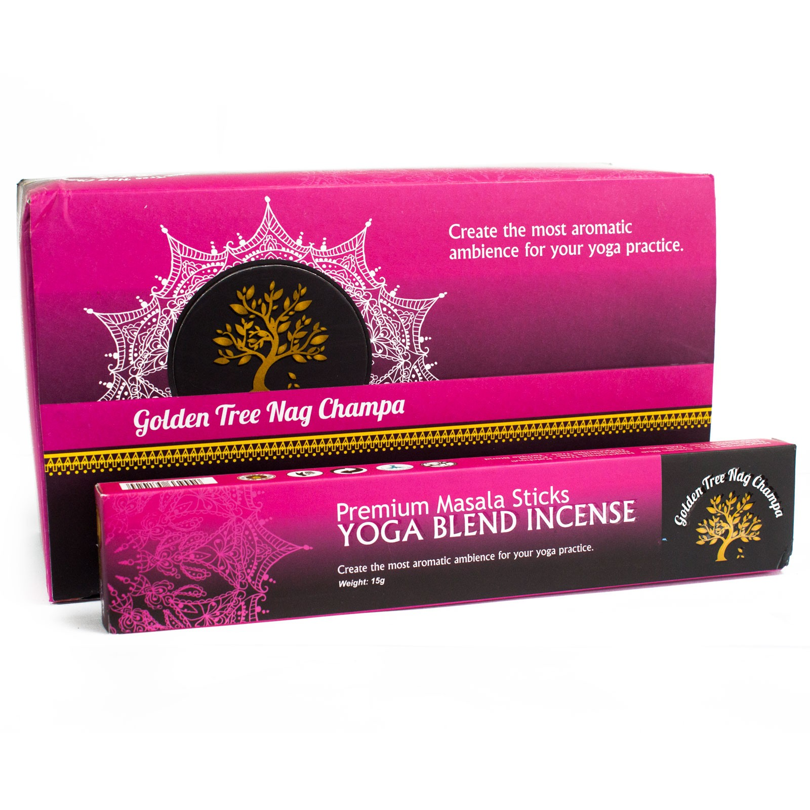 Golden Tree Nag Champa Incense - Yoga Blend